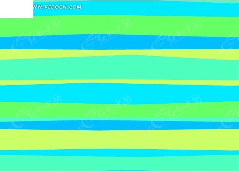 彩色横向条纹图案