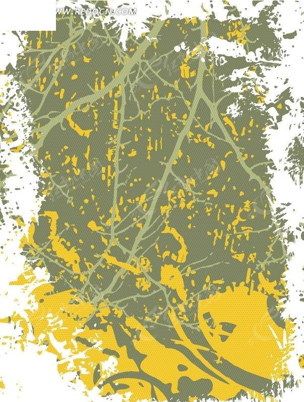 黄色青色残破背景素材