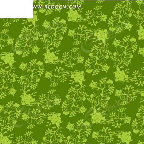 花草 枝叶 卷曲 绿色 底纹 背景素材 矢量素材 eps 花纹 花纹素材