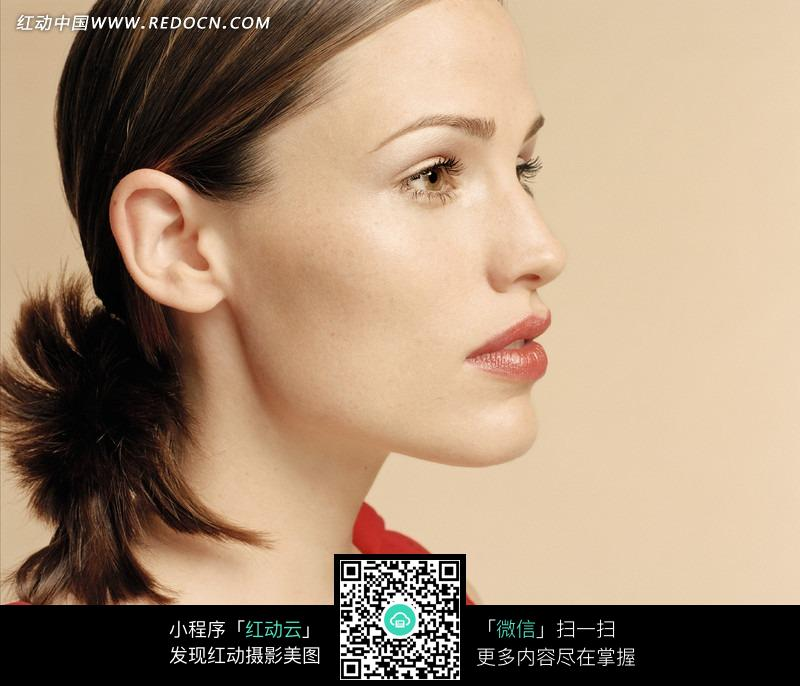 外国美女侧脸