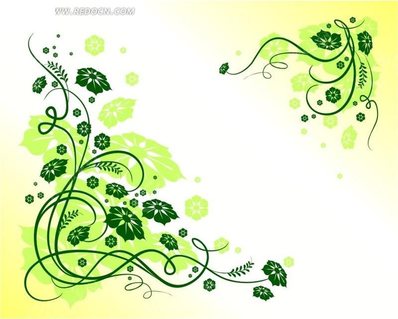 免费素材 矢量素材 花纹边框 花纹花边 绿色花朵藤蔓  请您分享: 红动