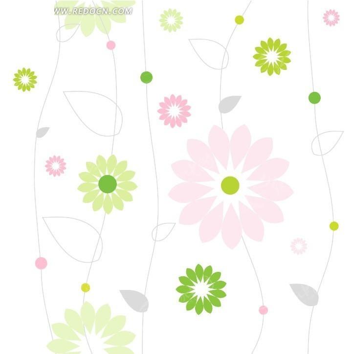 可爱小清新花朵背景