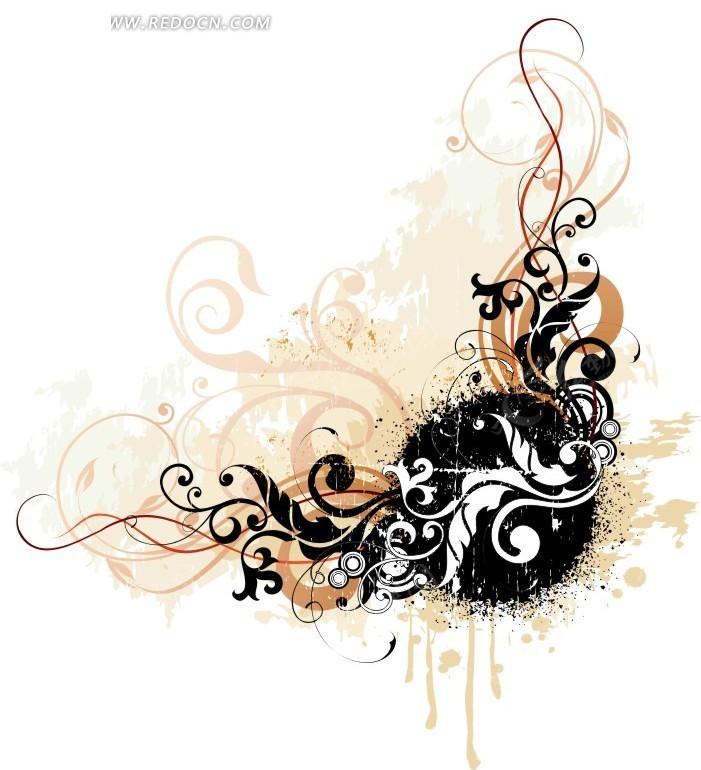 手绘 藤蔓彩绘 墙体绘画 彩绘图案 彩绘设计  花纹 花纹素材 花边