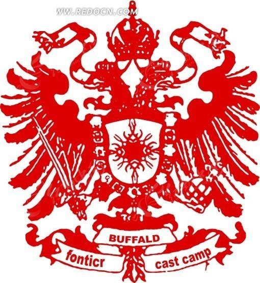 欧式古典红色徽章标牌