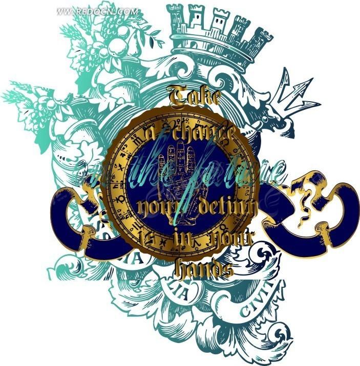 欧式花纹标牌
