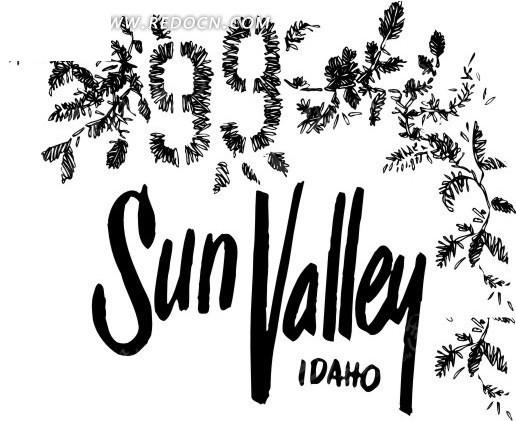 免费素材 矢量素材 花纹边框 花纹花边 > 黑白花朵叶子数字矢量素材图片