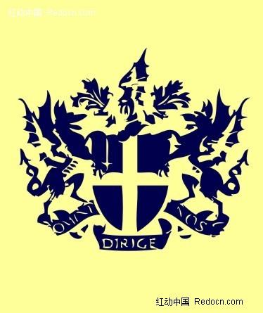 免费素材 矢量素材 花纹边框 印花图案 欧式潮流蓝色徽章标牌  请您图片