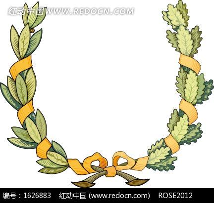枝条 植物 花环