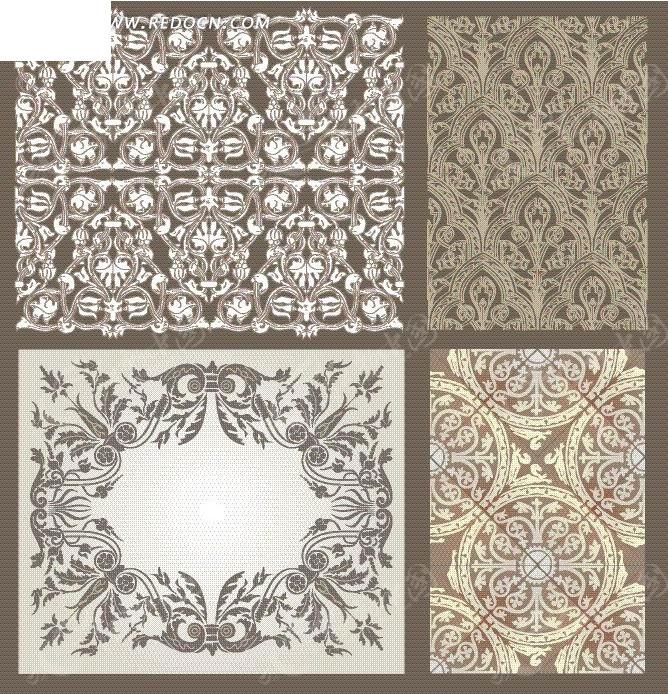 欧式古典花纹边框底纹