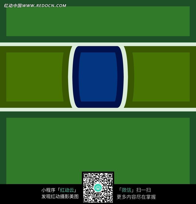 深绿紫心简单几何拼贴图案图片