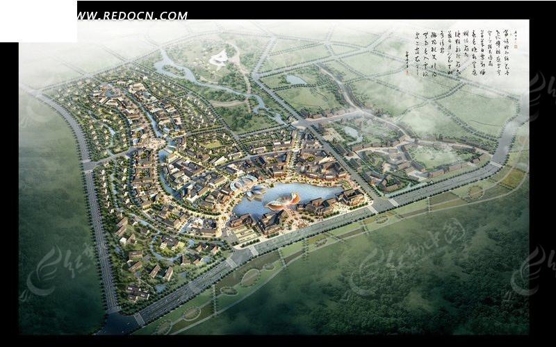 城市规划效果图设计