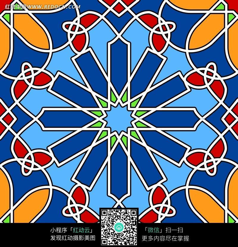手绘插画 创意花纹图形 动感曲线 彩色底纹背景 花纹 花纹素材 花边