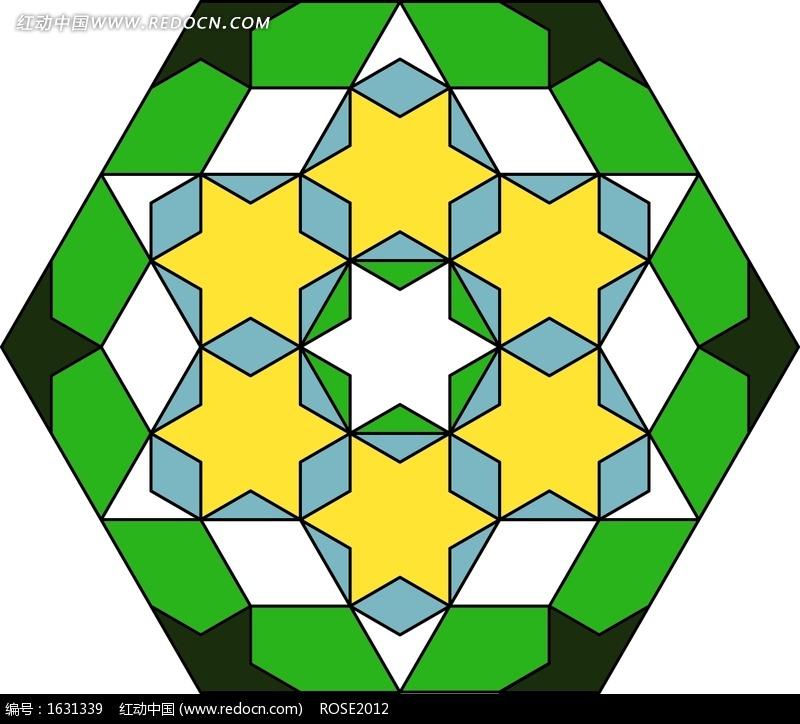 几何图形规律组合而成的图案图片