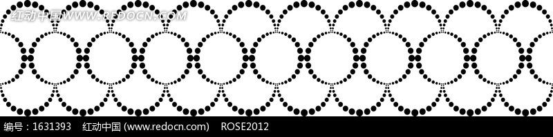 点组成的圆圈花纹花边图案图片
