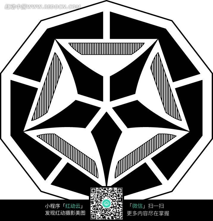 现代几何线条图案