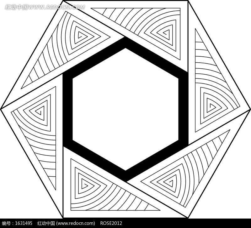 现代几何线条图案图片