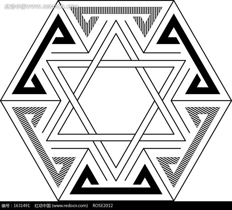 六边形几何现代图案图片
