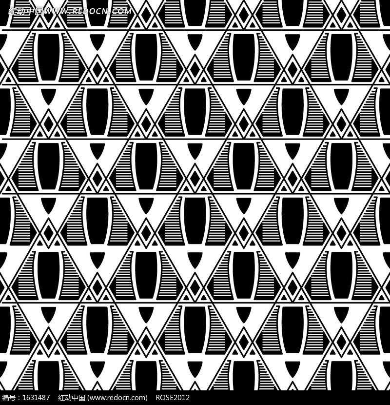 黑白创意花纹图案