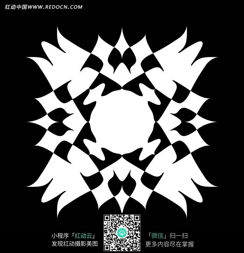 黑色背景白色花朵花纹底纹素材图片_花纹花边图片