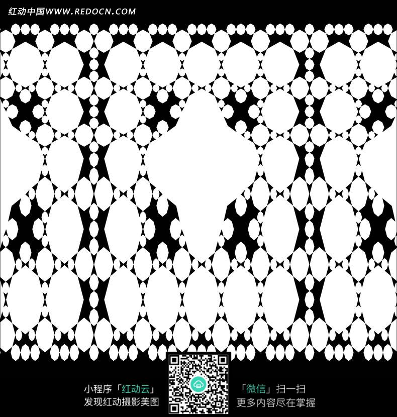 黑色背景 白色 圆形 花纹 底纹 背景素材 花纹素材 花边 花边素材