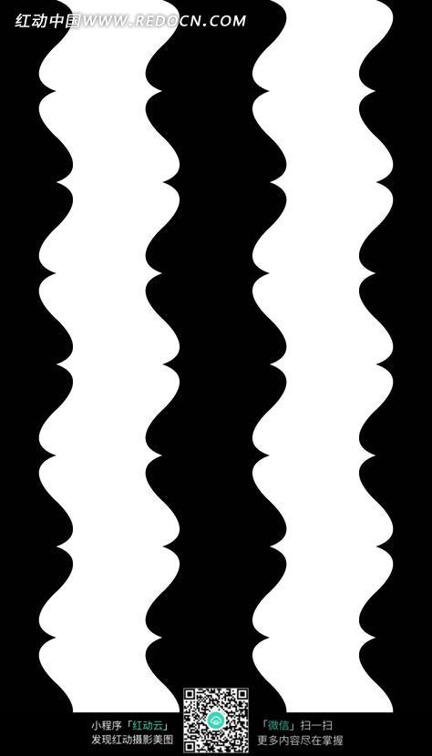 手绘间条扭曲斑马纹
