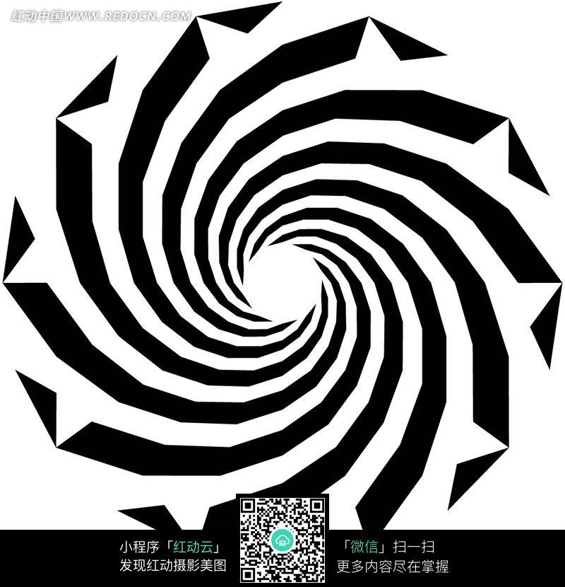 黑白 顺指针 螺旋纹 花纹 底纹 背景素材 花纹素材 花边 花边素材