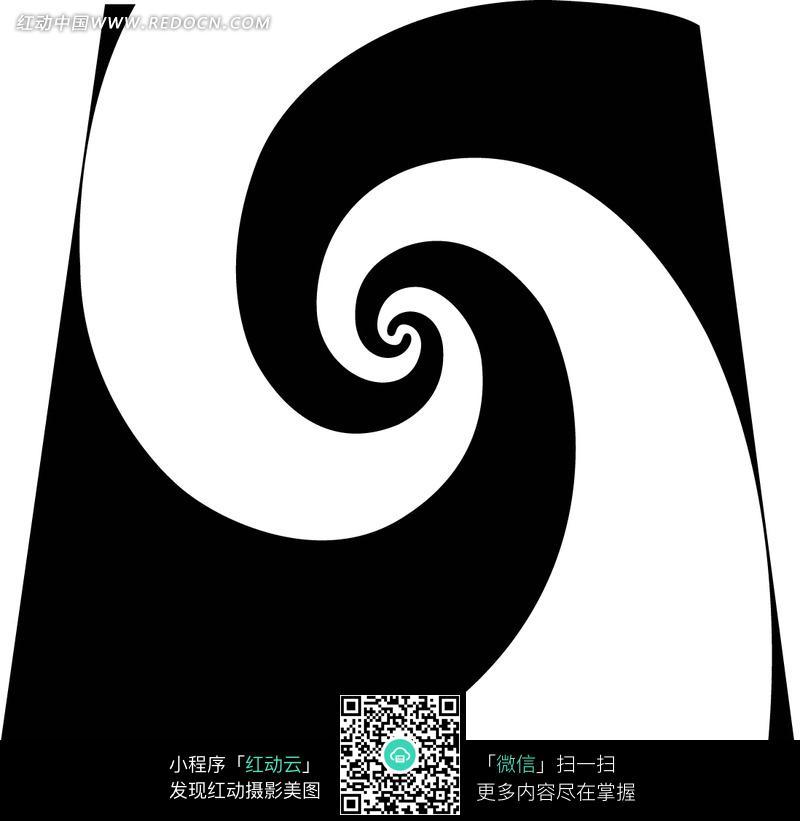 对称线性图案花纹素材 黑白抽象花卉花纹素材 线描双龙图腾古典花纹素
