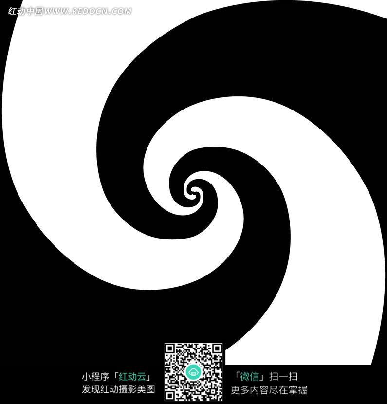 黑白 逆指针 螺旋纹 底纹 背景素材 花纹 花纹素材 花边 花边素材