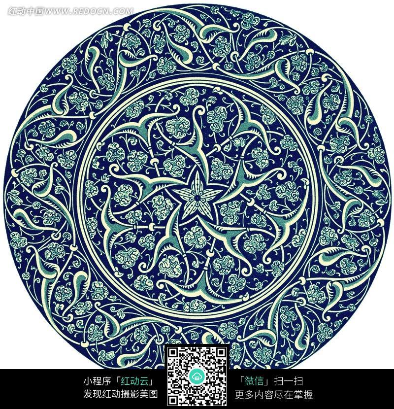 创意古典花纹组成的圆形图片图片