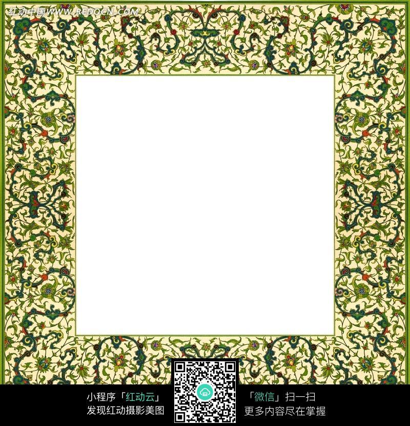 手绘缠绕的荆棘藤蔓画框图片