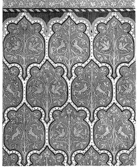 卷草花纹斑马线纹缠枝动物花鸟纹圆点框构成的图