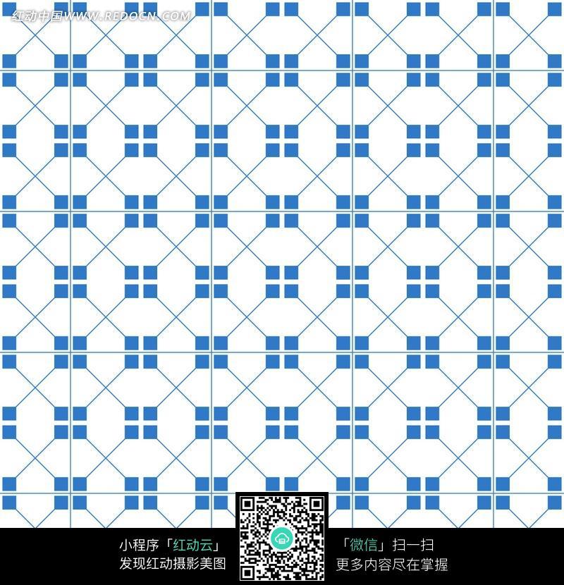 背景花边 底纹背景 > 白色背景浅蓝色花纹方格底纹