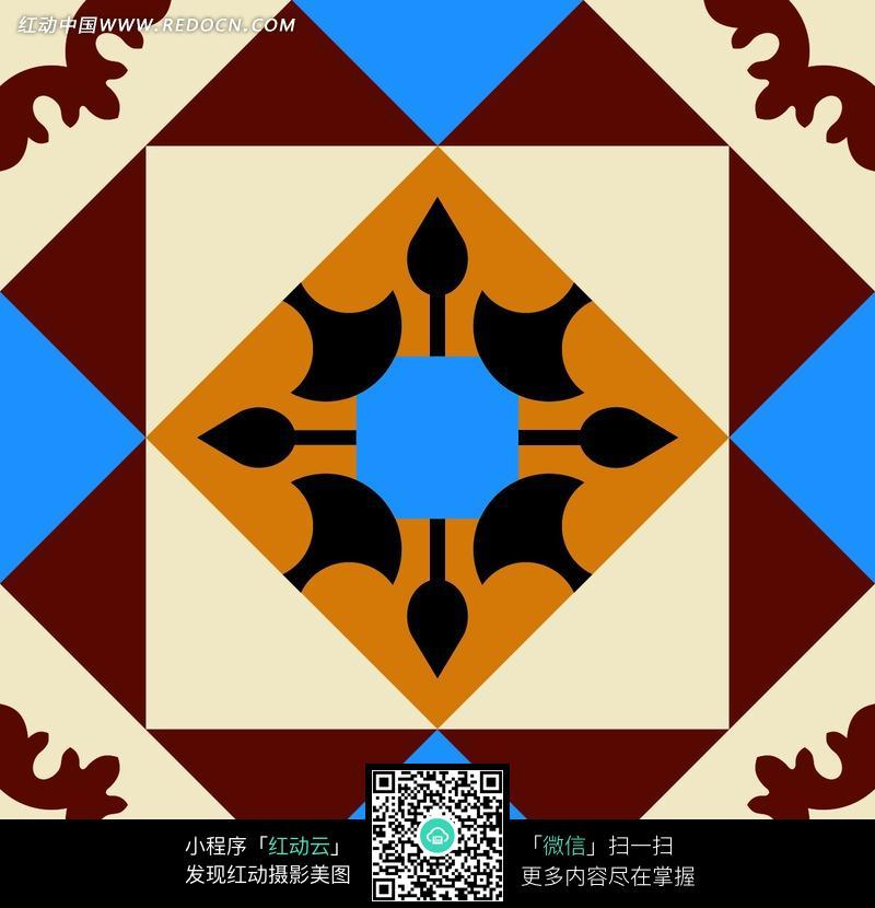 几何图形拼接的图案素材图片