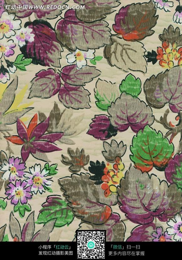 创意手绘幻彩花卉图案图片图片