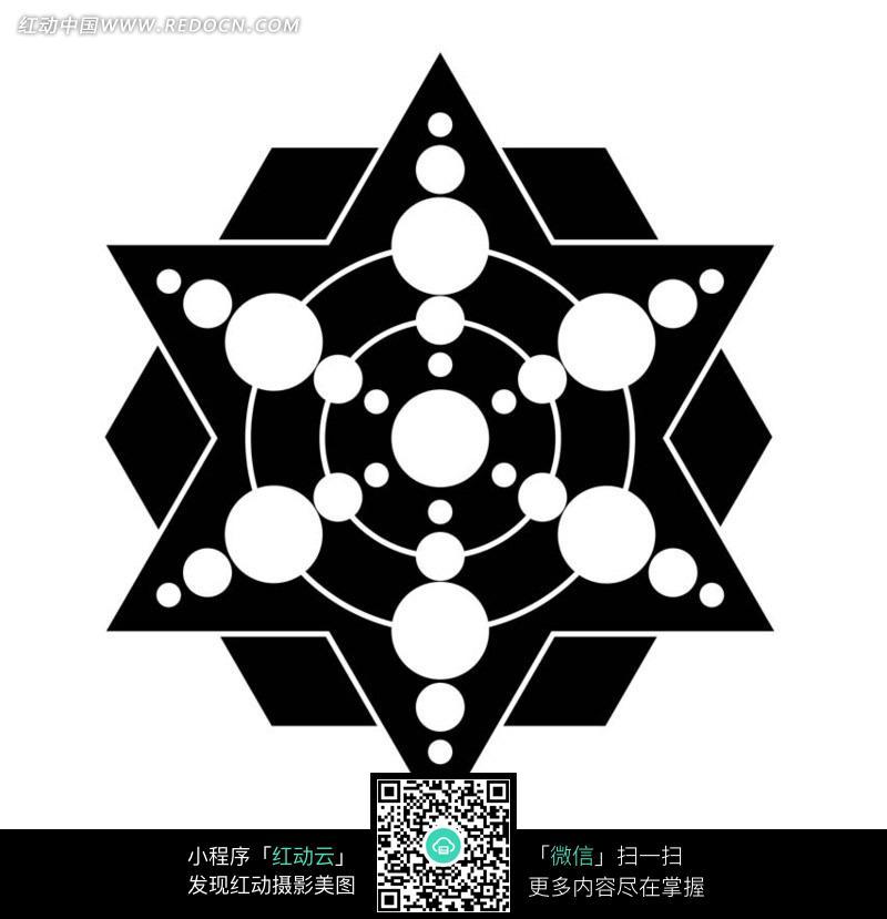 圆和六角形六边形组成的图案图片