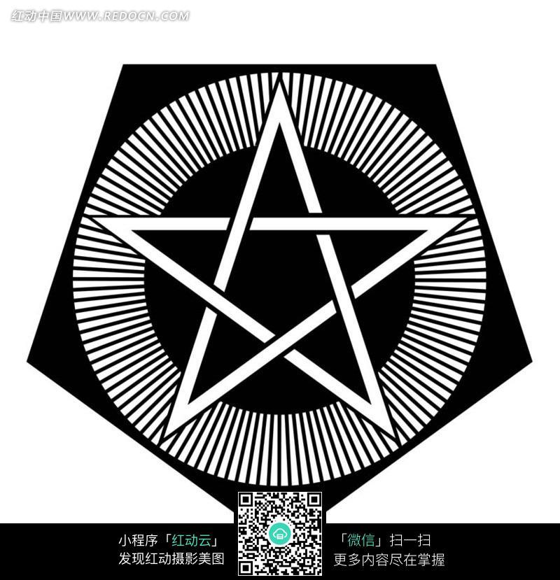 圆和五边形五角星组成的图案图片