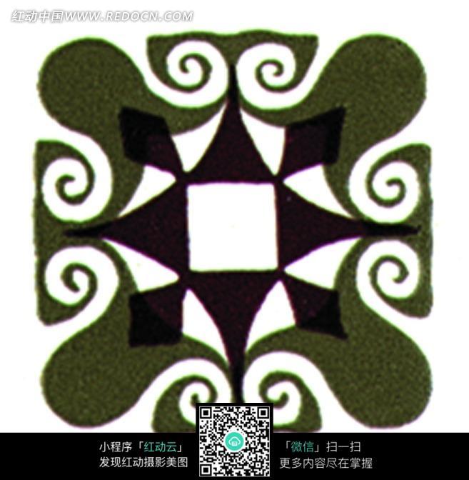 手绘创意花纹图形组合图片