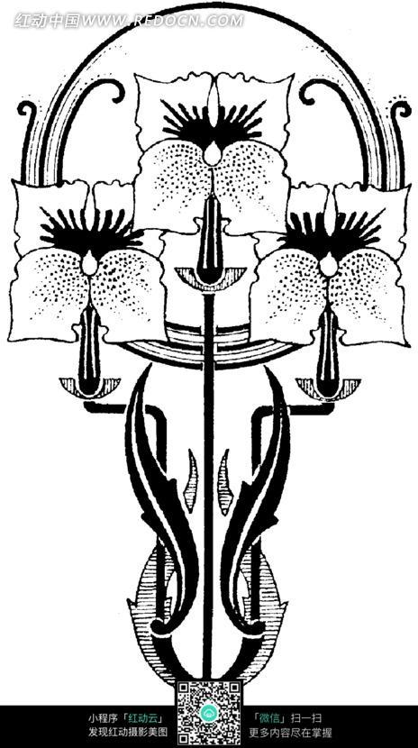 手绘创意花朵花瓣插画图形图片