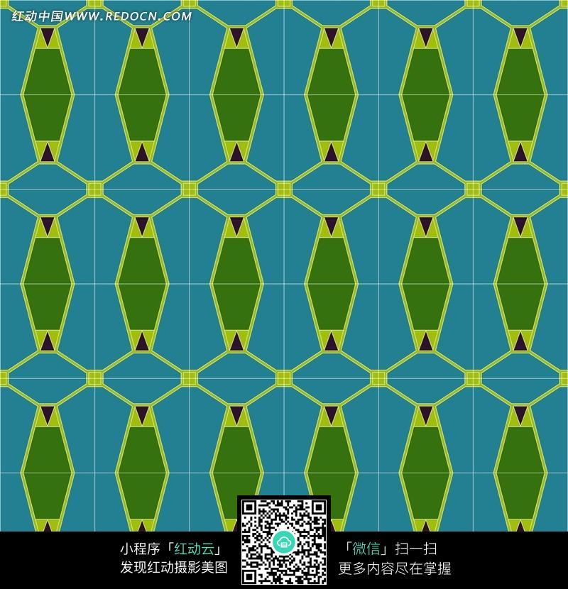 蓝底绿色花纹背景图案图片免费下载 红动网图片