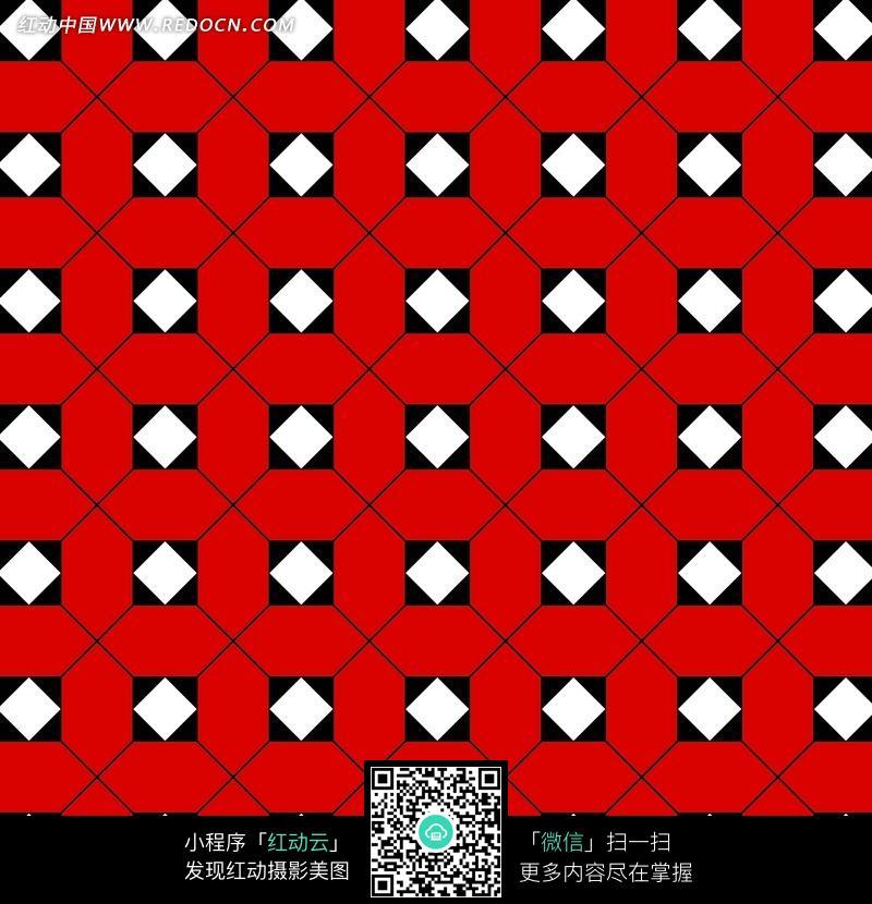 彩色方形四方连续图案图片