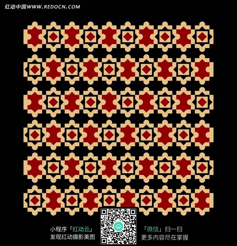 黑底方形菱形圆形三角形拼图形构成的背景图片免费下载 红动网