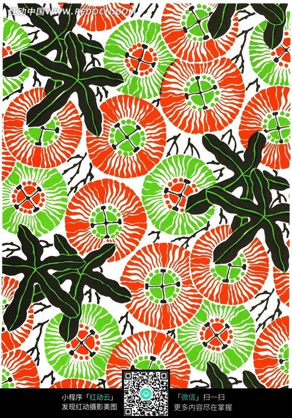 红绿调风景画颜料