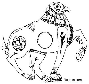 动物 手绘 线描图
