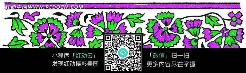 紫色条形花边图案图片_花纹花边图片