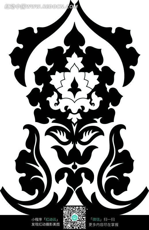 黑白适合纹样图案圆形内容|黑白适合纹样图案圆形版面设计