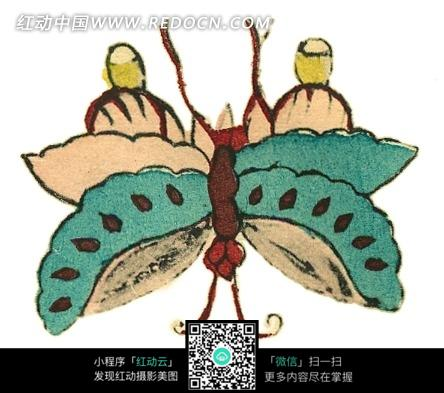 手绘可爱蝴蝶图片