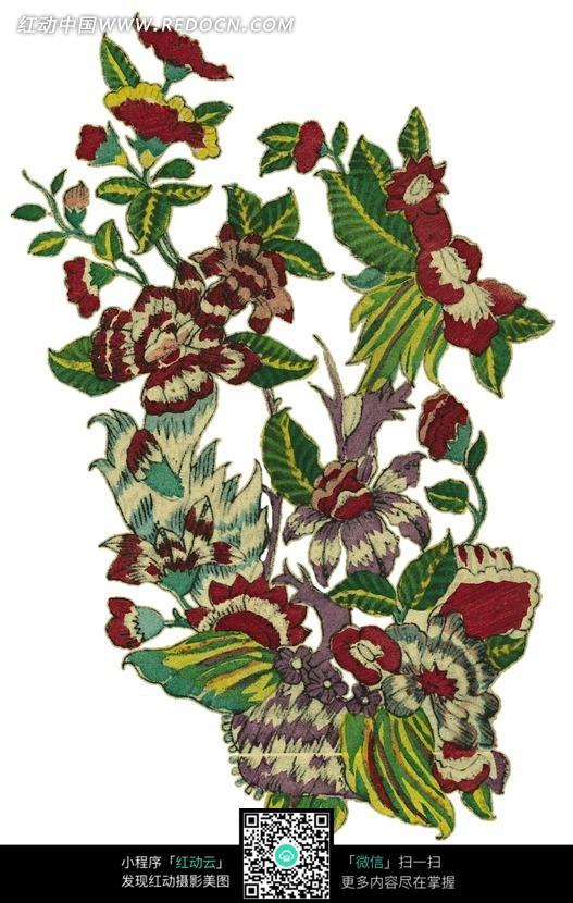 手绘漂亮的鲜花图案图片