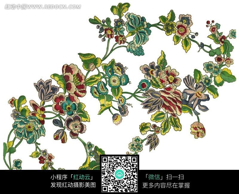 植物图案 手绘 花朵花纹 叶子 小草 精美花纹 花纹 花纹素材 花边