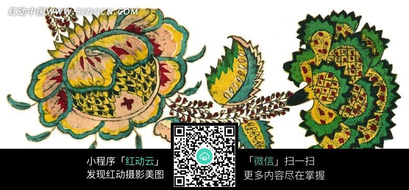 手绘漂亮的花朵图案图片