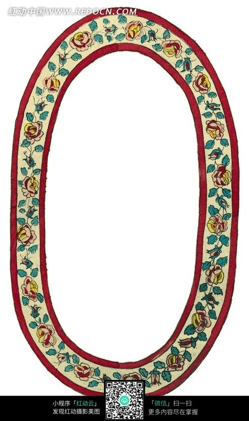 花藤 椭圆形 相框 边框 花纹 花纹素材 花边 花边素材
